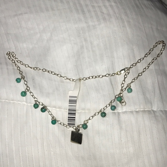 Jewelry - Stirling Silver and Aqua Necklace